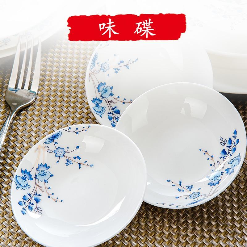 Jialan seperti air porselen tulang alat keramik set alat makan mangkuk piring Piring Sendok Piring Hidangan