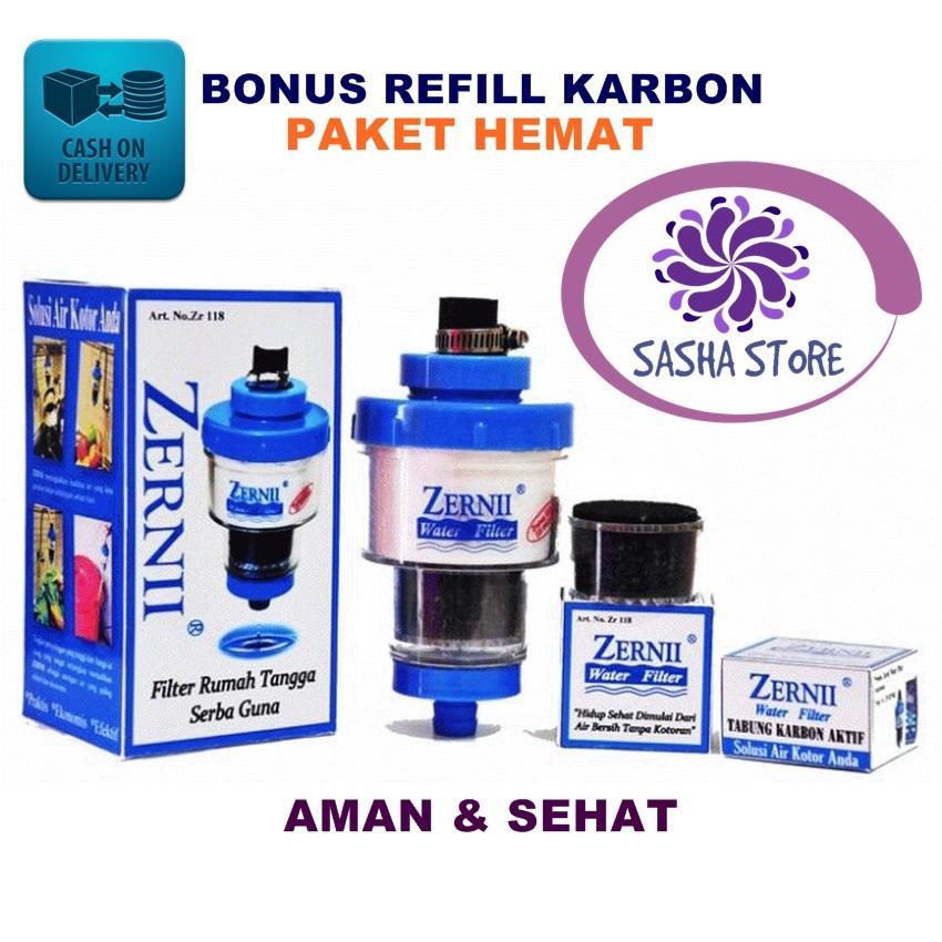 SS Paket Hemat Saringan Zernii Filter Air Carbon / BONUS REFILL CARBON
