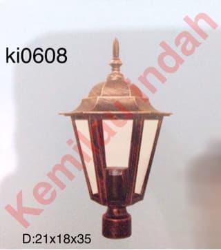 LAMPU PILAR TAMAN GARDEN LAMP BOHLAM LED MINIMALIS ANTIK OUTDOOR 0608