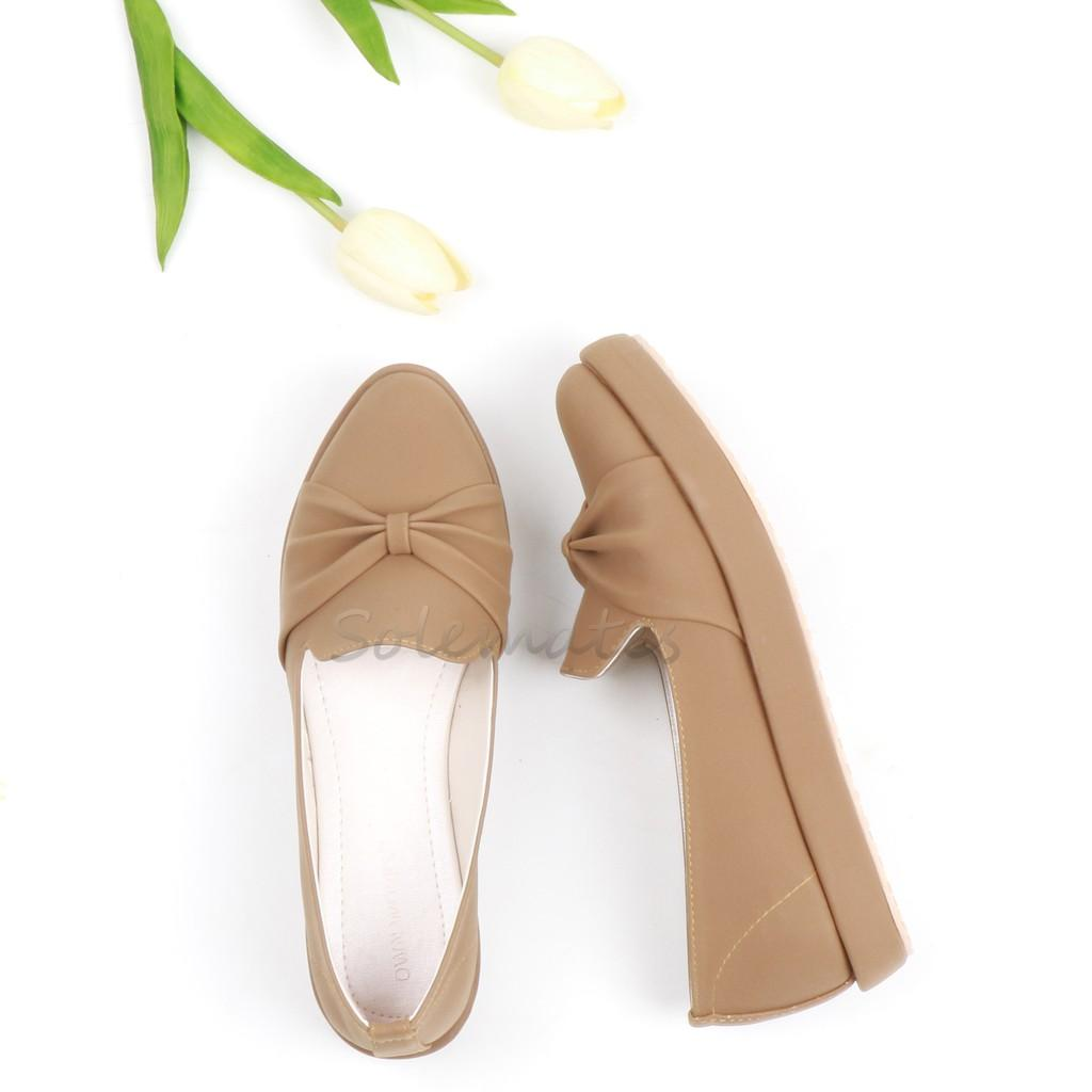 SOLEMATES - NEW FLAT SHOES RIBBON PREMIUM MOCCA - IS01