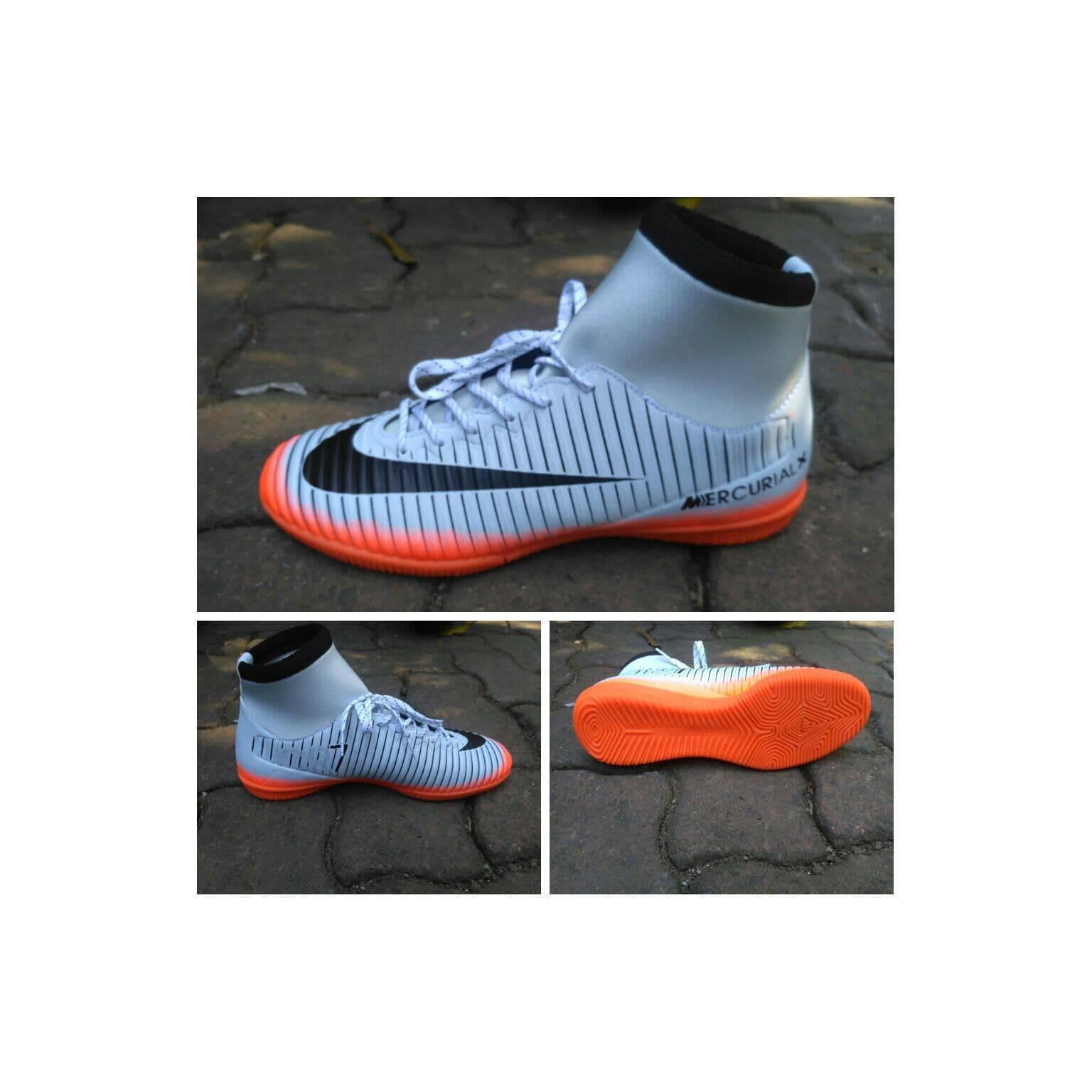 Sepatu futsal nike mercurial x putih kombinasi orange superfly