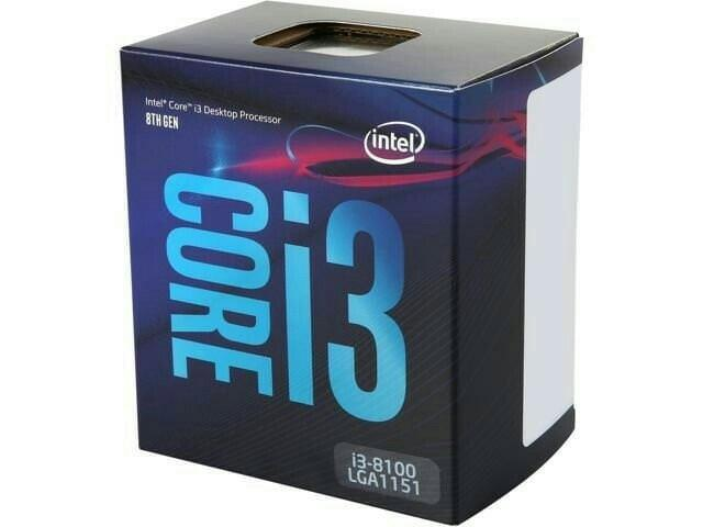 Intel Core i3 8100 LGA 1151 QUAD CORE 3.6 GHZ COFFEELAKE