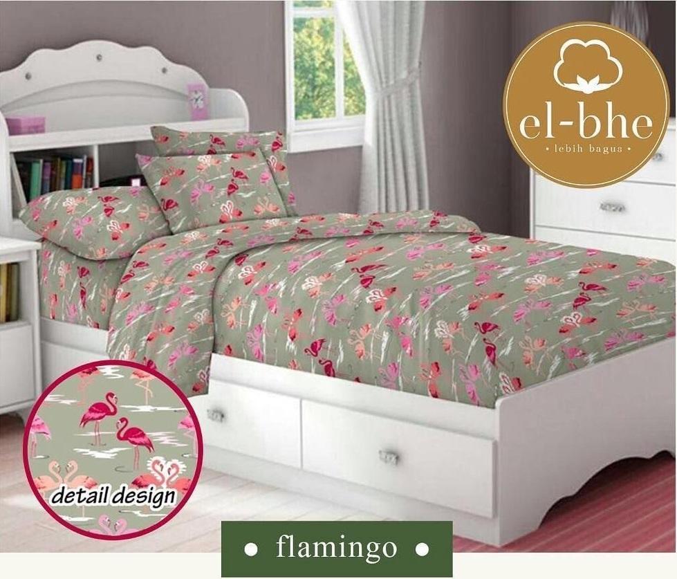 Buy Sell Cheapest Sprei Katun Elbhe Best Quality Product Deals Jaxine Motif Bunga Padi Hijau Kotak Flamingo Pink Uk Double T20