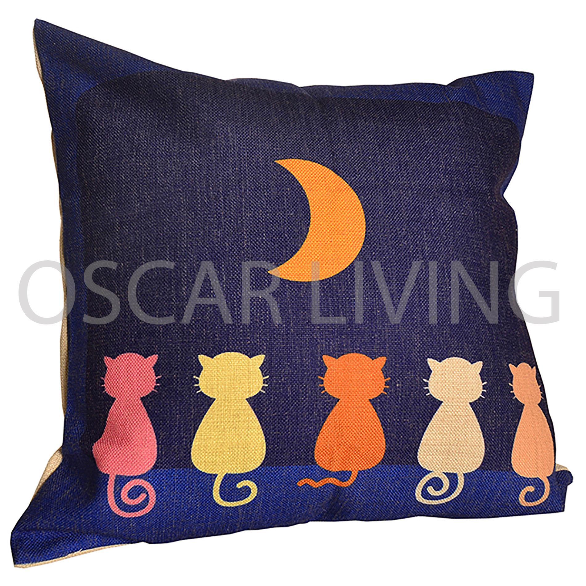 Bantal Sofa Decoration Motif Dreamy Cat Q11( Insert + Cover )