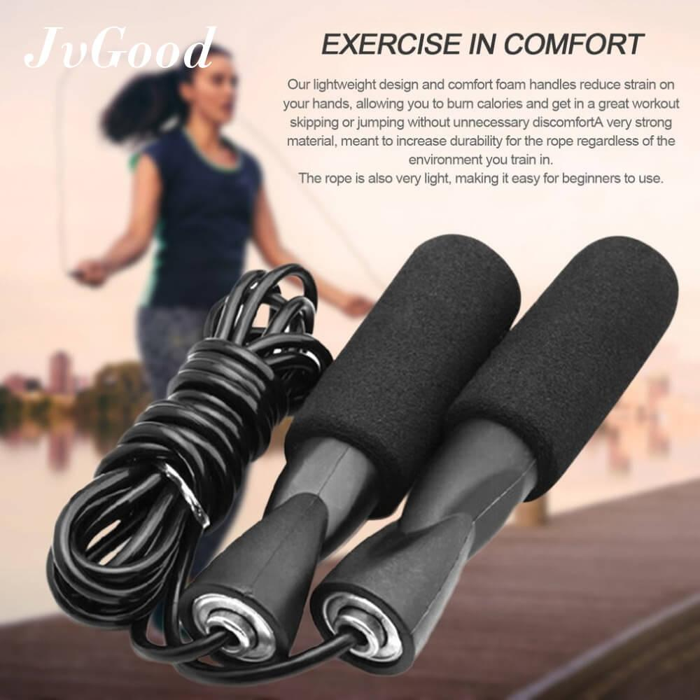 JvGood Lompat Tali Jump Rope Skipping Ropes for Boxing MMA Fitness Training Exercise Workout Speed Skip