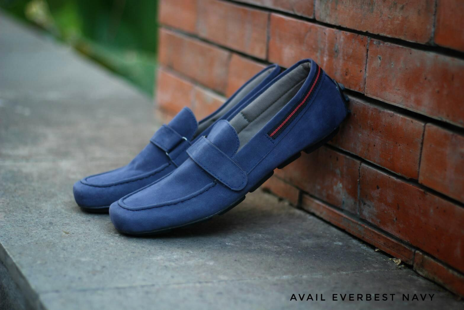 SEPATU CASUAL PRIA AVAIL EVERBEST SLIP ON NAVY SUEDE