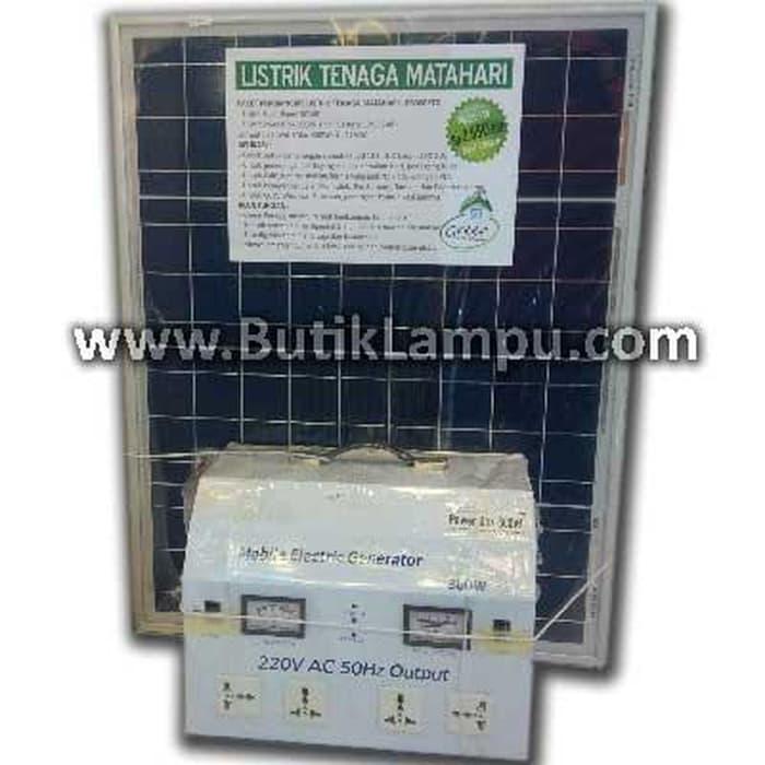 Promo   Paket Pembangkit Listrik Tenaga Surya/Matahari 300W   Original
