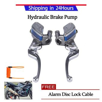 Beli sekarang 【Buy 1 Mendapatkan 1 Gift】Pair of 22mm CNC Universal Motorcycle Hydraulic Brake Pump Clutch Master Cylinder Lever Adjustable(silver) ...