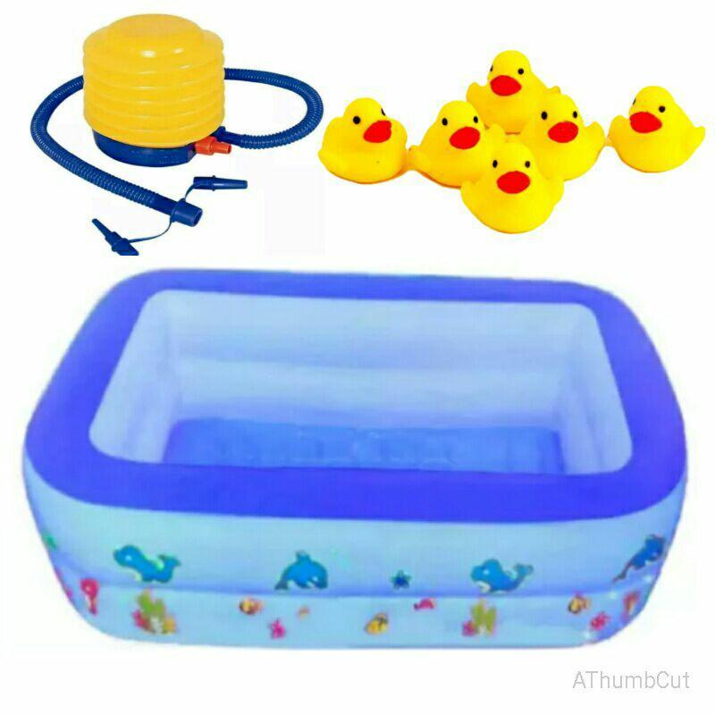 Baby spa kolam renang anak bayi mainan pelampung anak free pompa mainan bebek