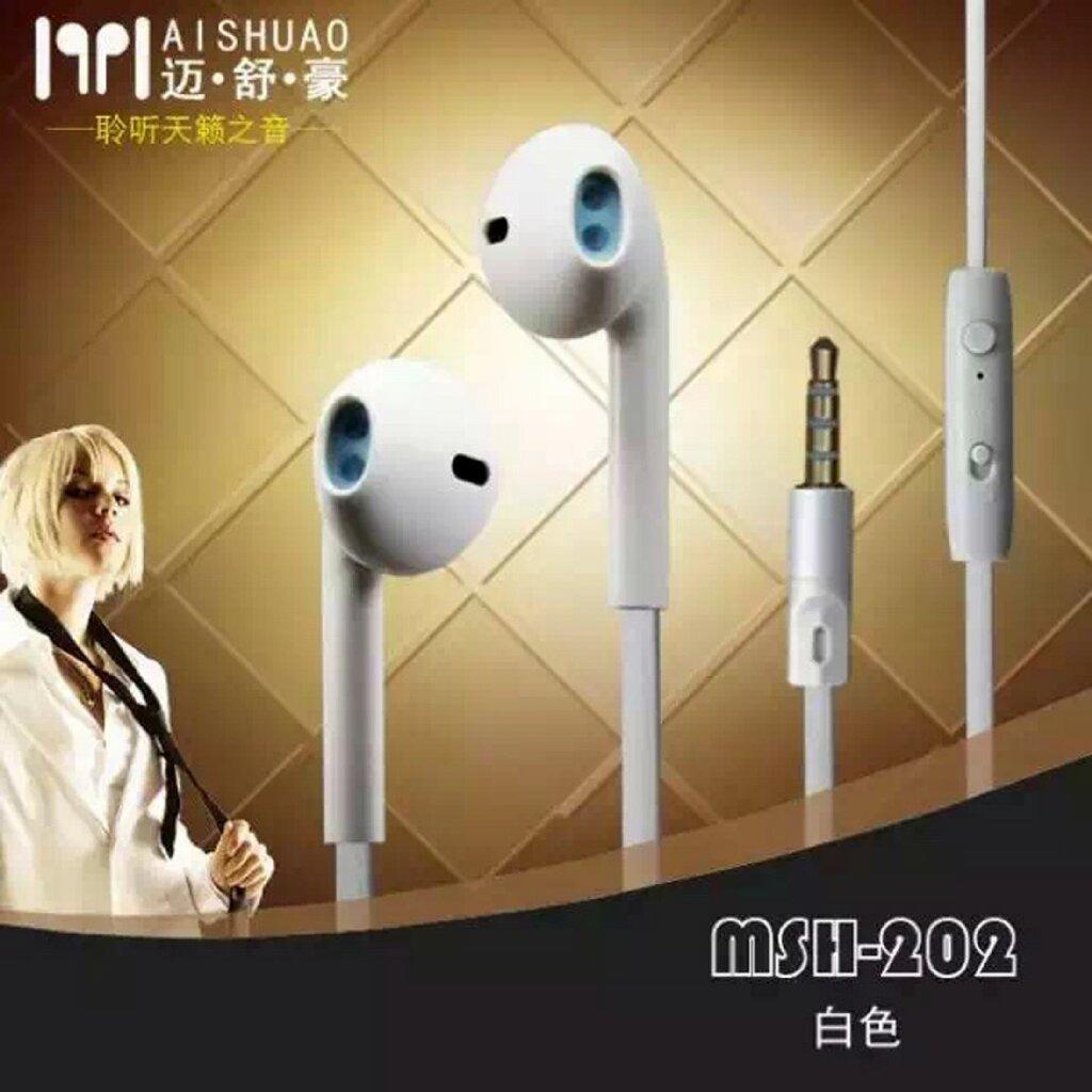 MSH 202 Earphone serba guna earphone umum / general Headset cocok untuk smartphone Samsung / Oppo / Vivo / Xiaomi / Asus dan bisa juga Iphone