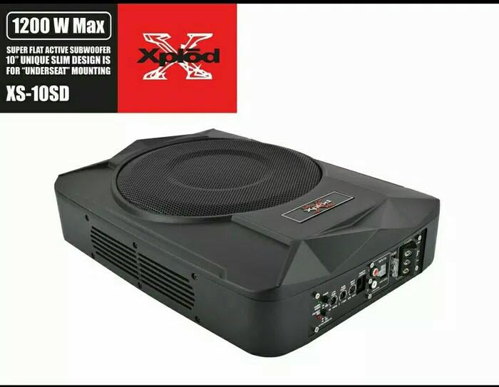 Subwoofer basstube kolong slim xplod 10 inch carry