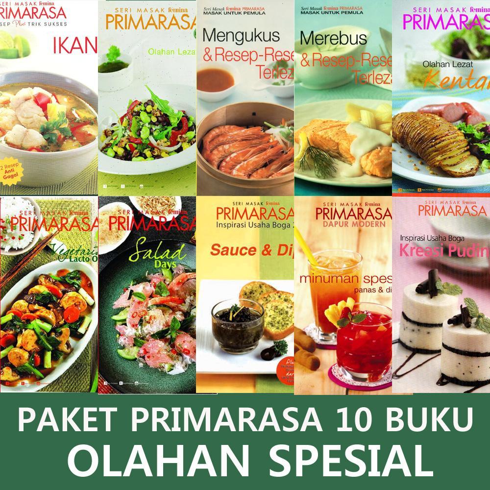 Paket Super Hemat Primarasa 10 Buku Resep Olahan Spesial By Feminagroup.