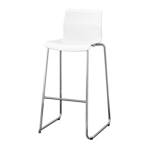 PROMO!! IKEA GLENN Kursi bar, putih, dilapisi krom, 77 cm MURAH /  BUBBLE 3 LAPIS / ORIGINAL / IKEA ORIGINAL