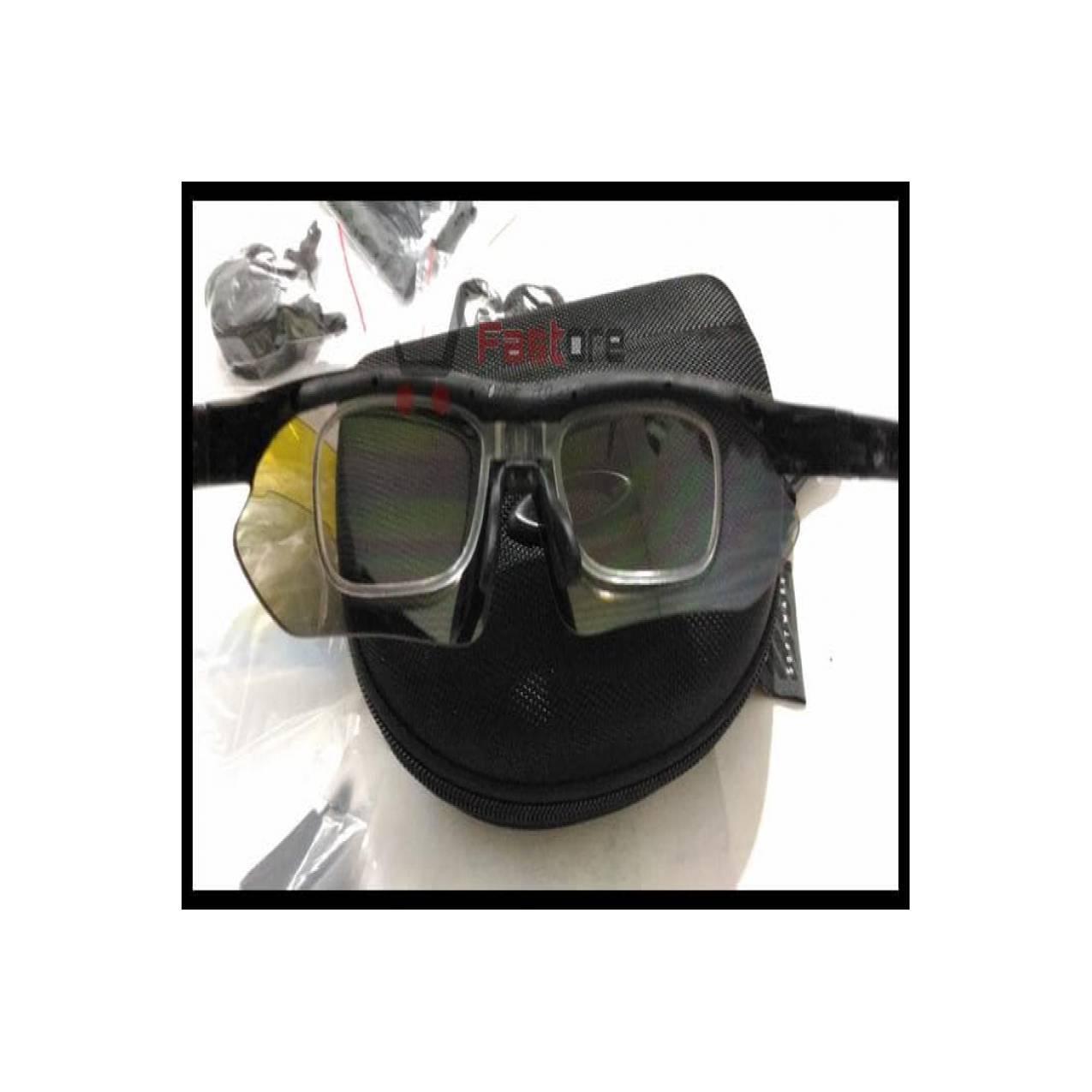 (Murah!!) Kacamata Sport Oakley Quantum 5 Lensa - Gowes Sepeda Motor