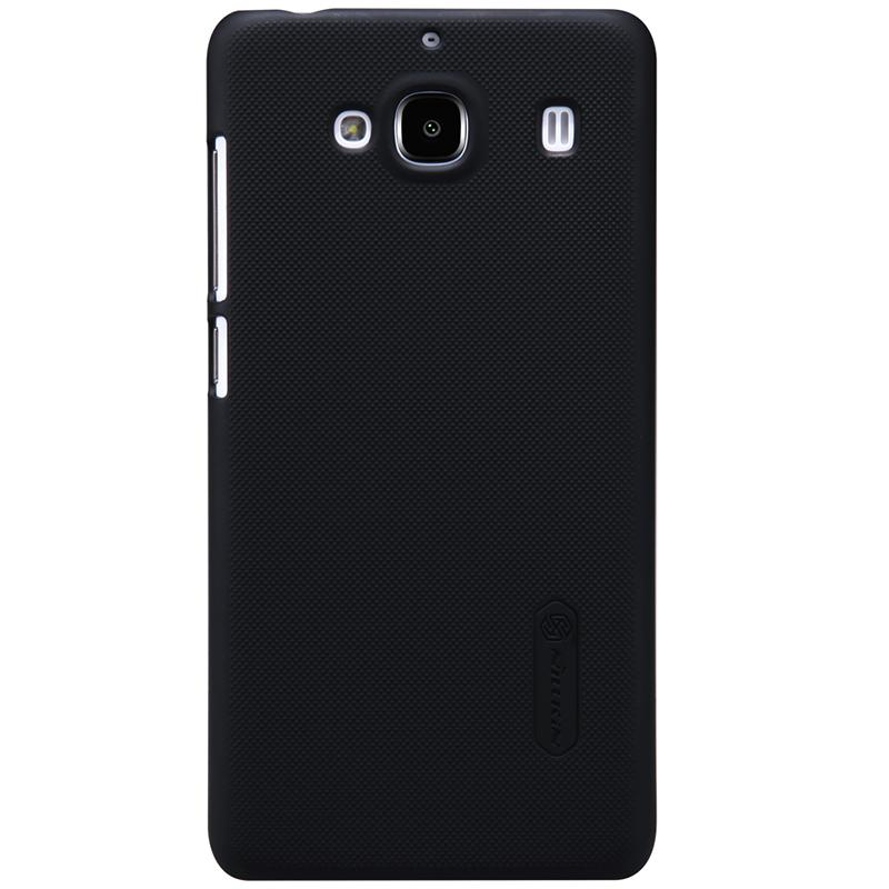 Nillkin super frosted shield case Xiaomi Redmi 2 & Redmi 2 Prime + Free Tempered Glass - Black - Murah