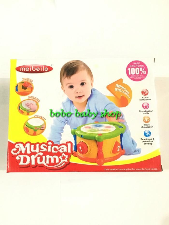 PROMO M124 Meibeile Musical Drum set 2in1 - Mainan edukasi / Aktifitas Anak TERLARIS