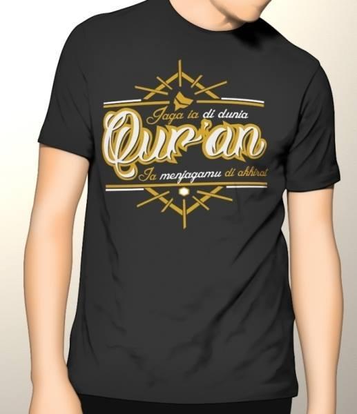 Kaos Premium DTG Dakwah Muslim Jaga Dia Di Dunia Quran
