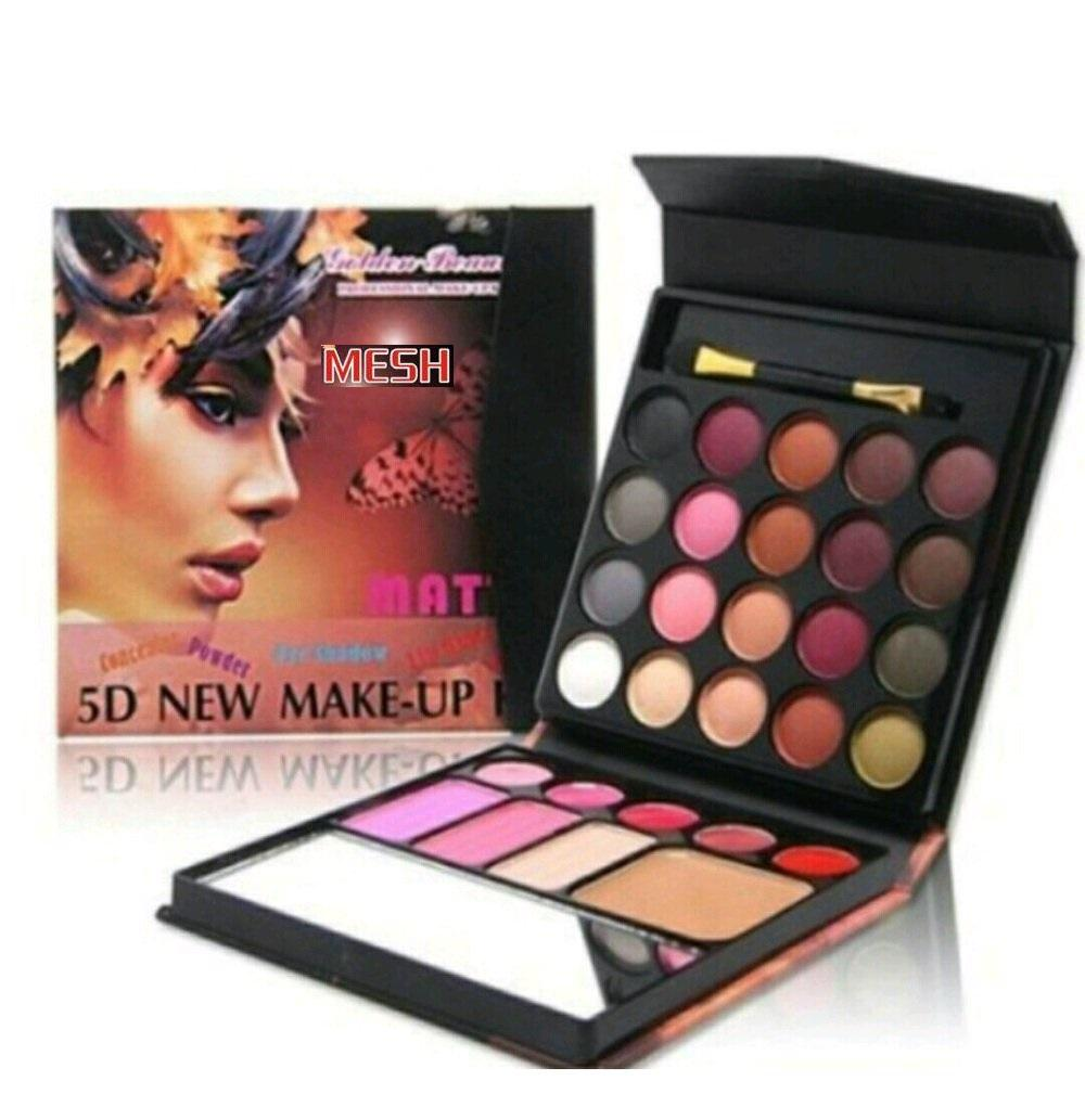 Mesh 5D New Make Up Kit All In One Eyeshadow Blush On Powder Lipstick