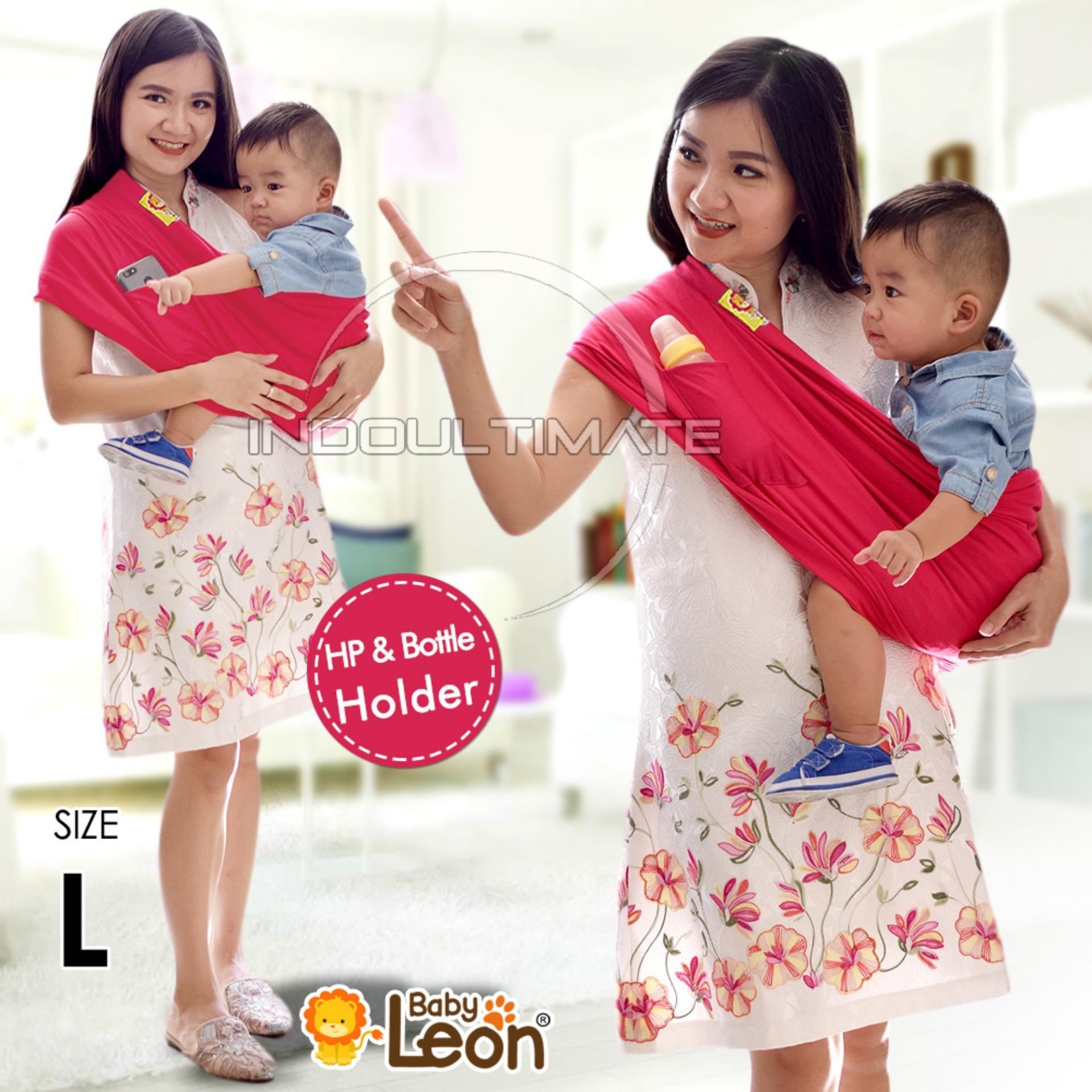 BABY LEON Gendongan Bayi Kaos/Geos/selendang Bayi Praktis BY 44 GB Polos Ukuran L