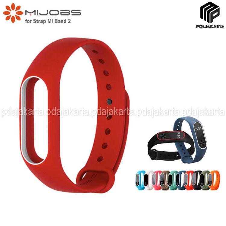 Mijobs Original Strap for Xiaomi Mi Band 2 - Red White