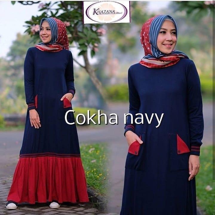 Baju Muslim Gamis Cokha Dress Panjang Hijab Casual Pakaian Wanita Hijab Modis dan Gaul