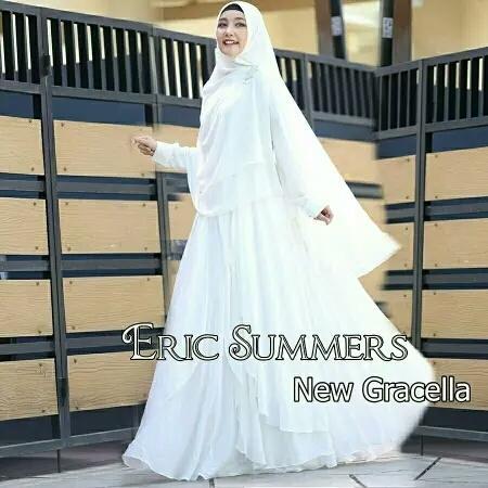 Butik Aisyah Baju Wanita Gaun Dress Gamis Syari Busui Gracella Polos dan Hijab Cerutty 3 Layer