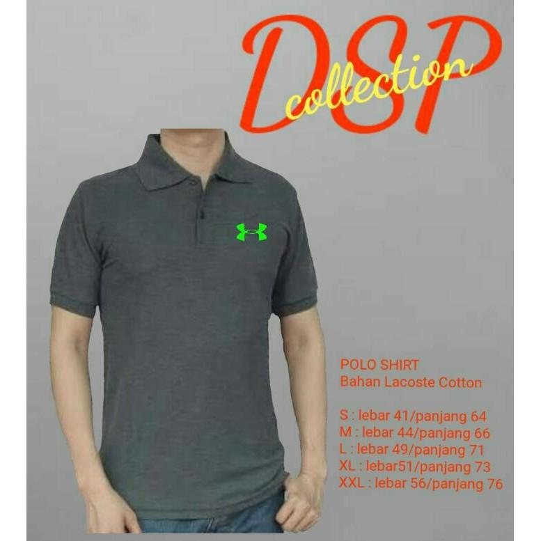 KAOS DISTRO POLO TSHIRT UNDER ARMOUR T SHIRT BAJU KERAH PRIA EKSKLUSIF -