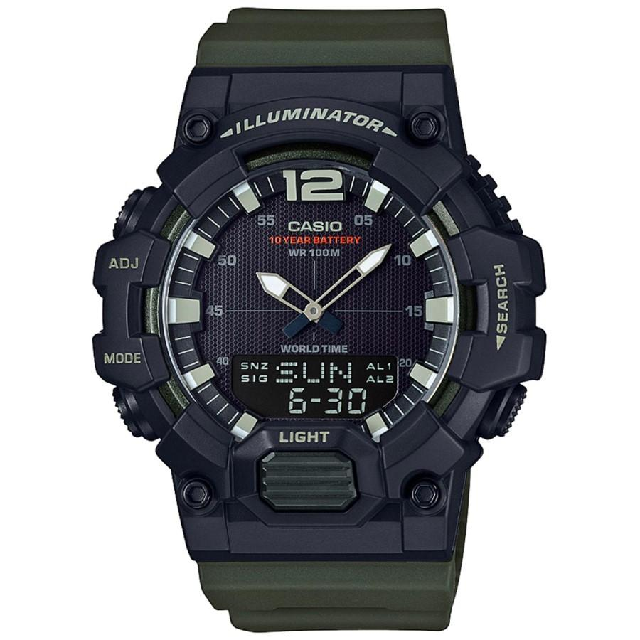 Casio Youth Combination HDC-700-3AVDF - Jam Tangan pria - Green Black - Strap Resin