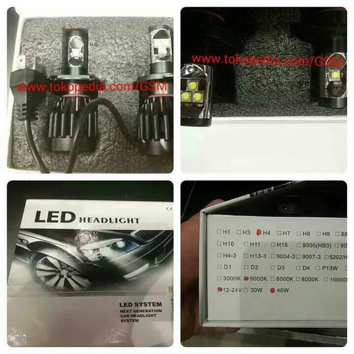 Lampu utama LED CREE ETI SUPER H4 motor mobil