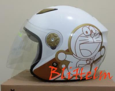 helm BMC MILAN C DORAEMON RETRO WHITE GOLD