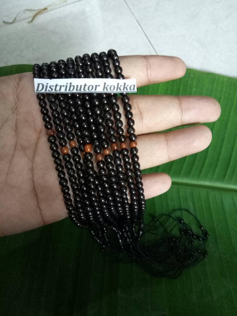 Buy Sell Cheapest Promo Tasbih Kalung Best Quality Product Deals Al Athar Kesehatan Black Jade Diskon Perhiasan Aksesoris 99 Kokkakaukah Bulat Murah