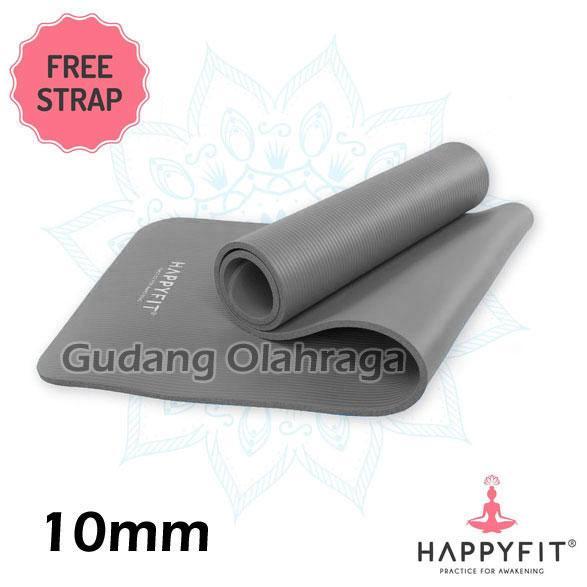 Matras Yoga Happyfit Nbr 10mm Original / Yoga Matt / Matras Senam Tebal 10 Mm By Gudang Olahraga.