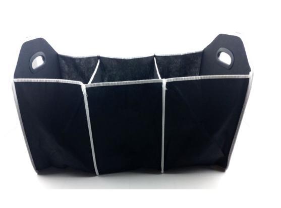 car back kotak box storage tas penyimpanan barang bagasi mobil hitam kain non woven