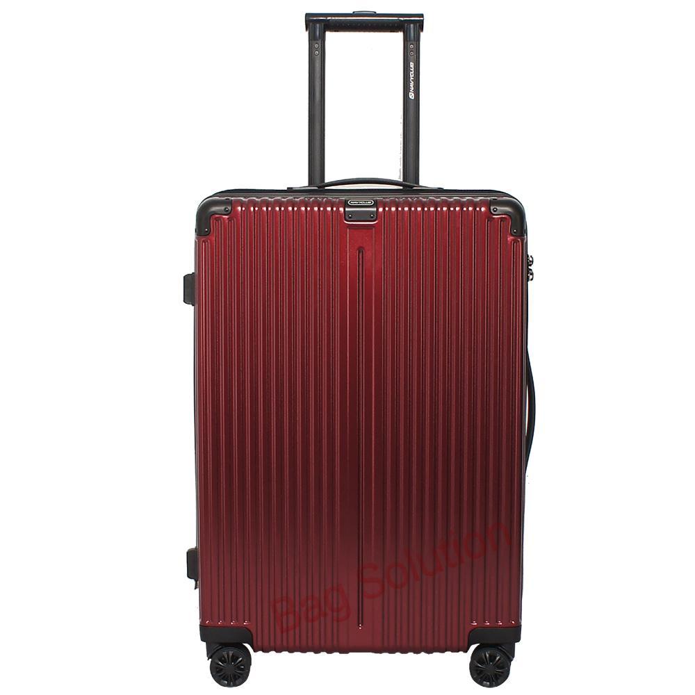 Navy Club Tas Koper Hardcase Fiber PC - 4 Roda - Resleting Anti Tusuk Expandable - Kunci TSA - CHGG Size 20 Inch