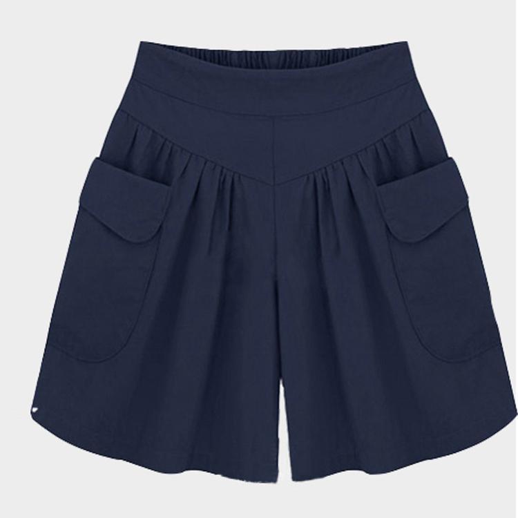 MM Celana Cargo Musim Panas Sejuk Celana Panas Gelang Karet Pinggang Tinggi
