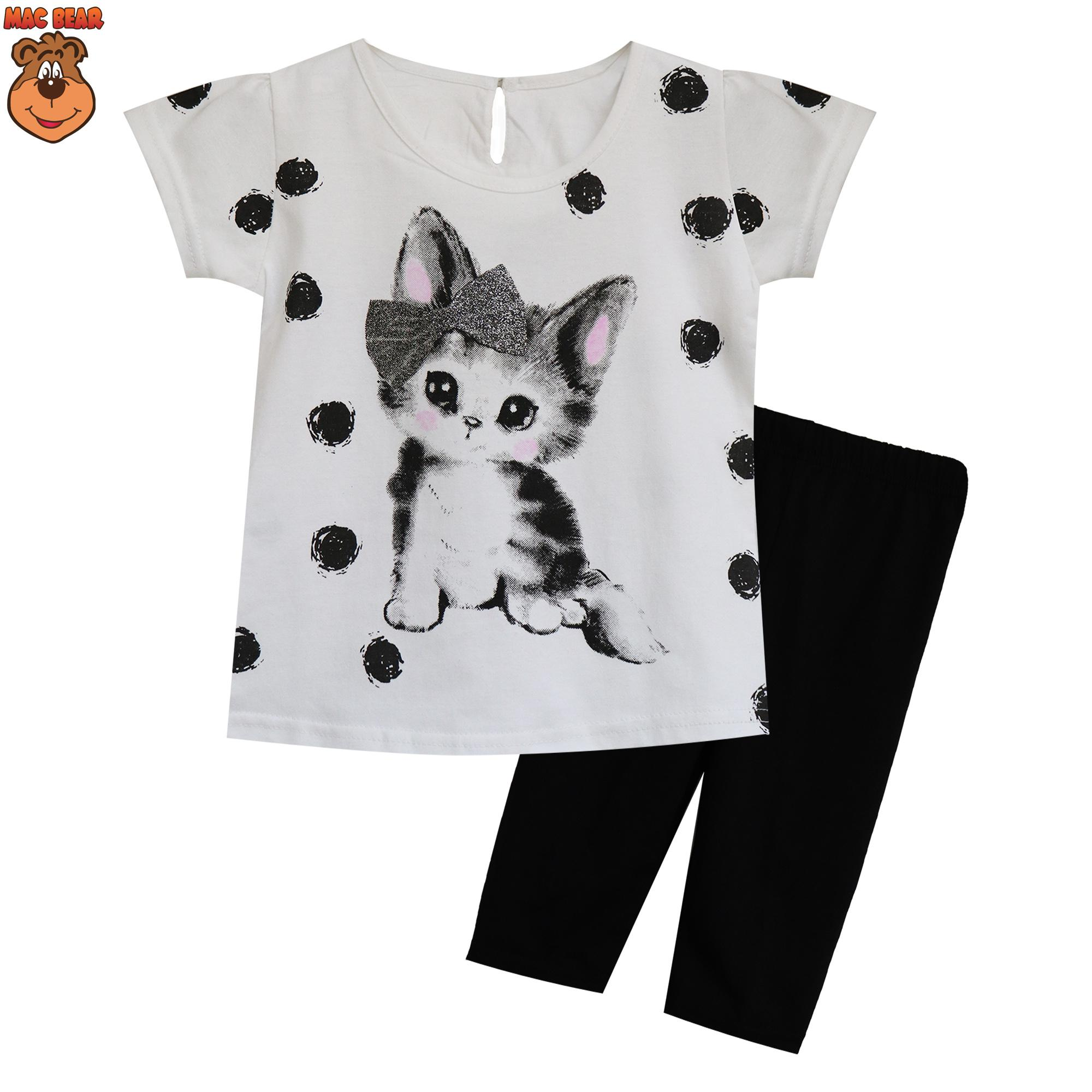 MacBee Kids Baju Anak Setelan Molly The Cute Cat Polkadot 8aa7a0cc10