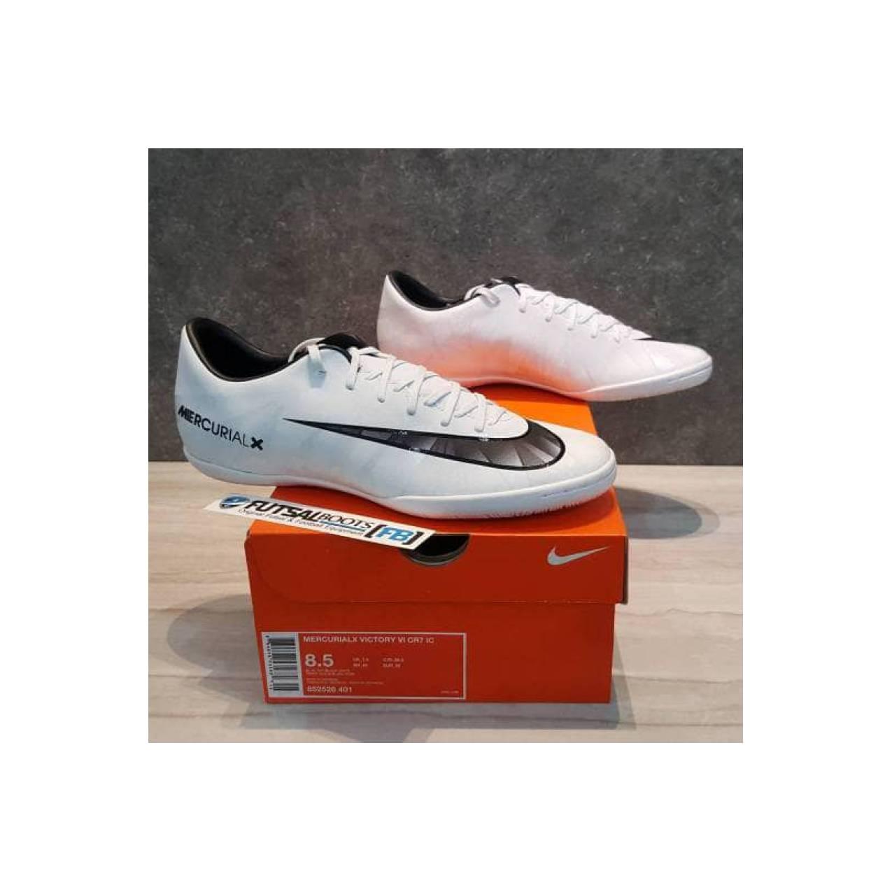 Sepatu Futsal Nike Mercurial X Victory CR7 Ronaldo IC - White