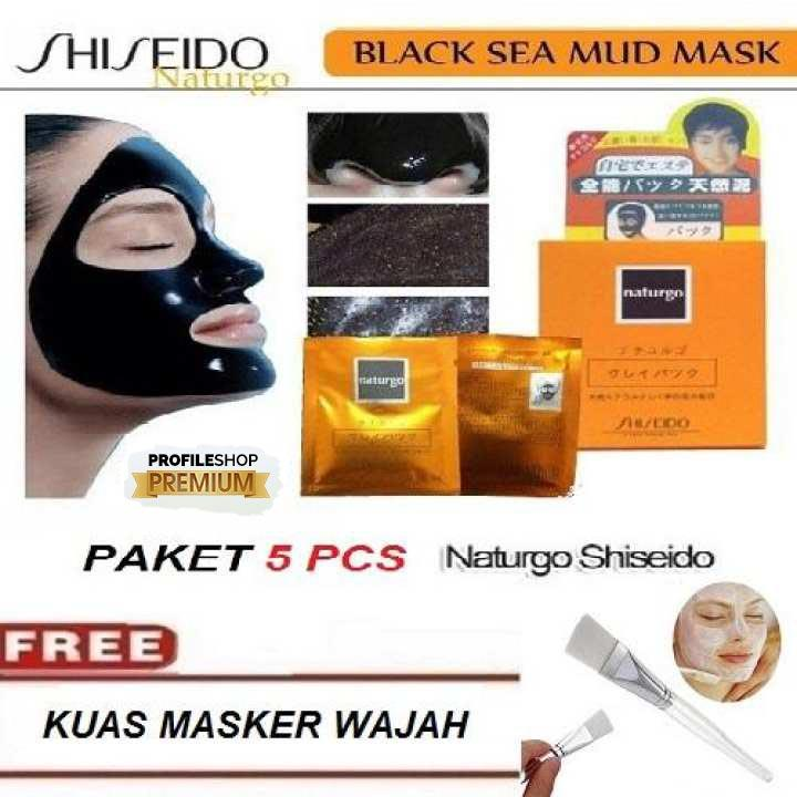 Masker Wajah Naturgo Grade A Hitam Kental ProfileShop - 5 Pcs - Shishedo Naturgo Mask (