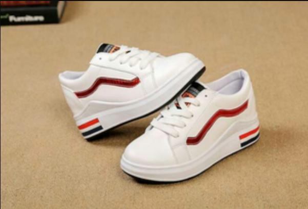 SNEAKER (VANS NOW) LIST MERAH - Putih