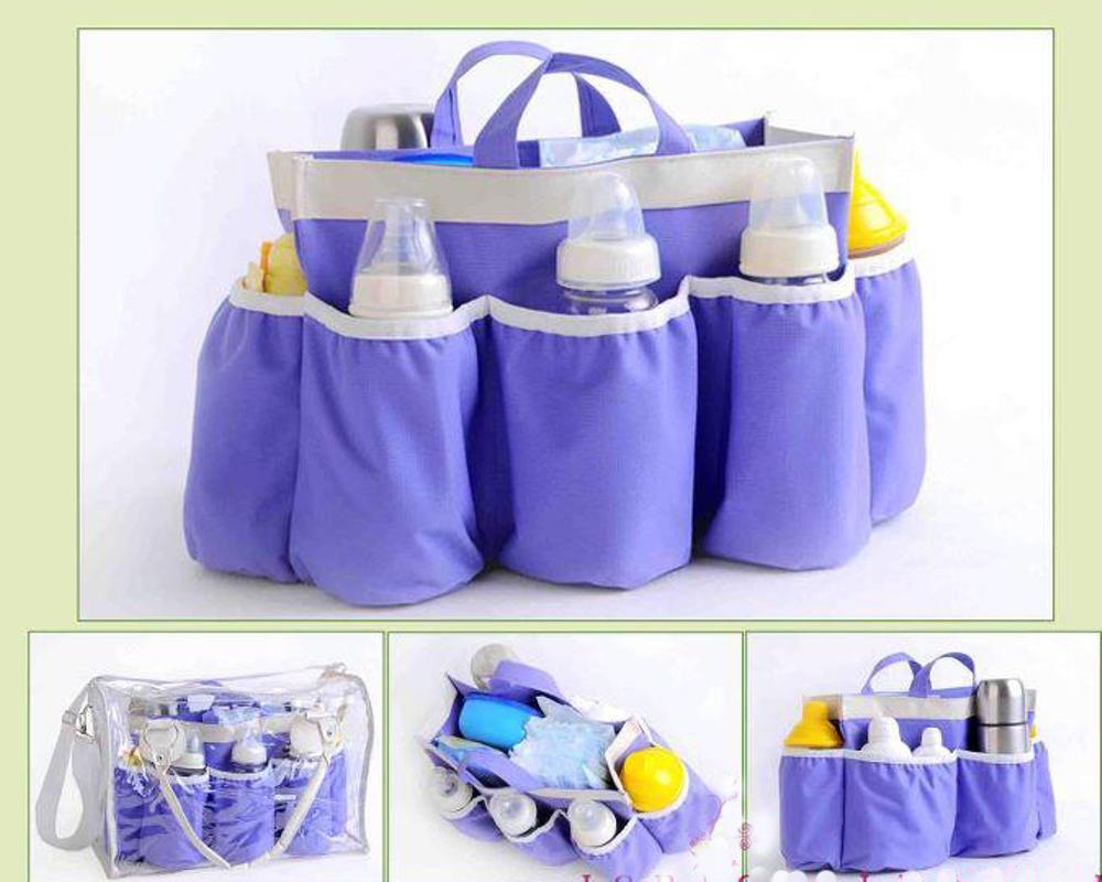 Diaper Bag Tas Popok Dot Bayi Multifungsi Polos Biru yang Kuat Nyaman Muat Banyak dan Berkualitas