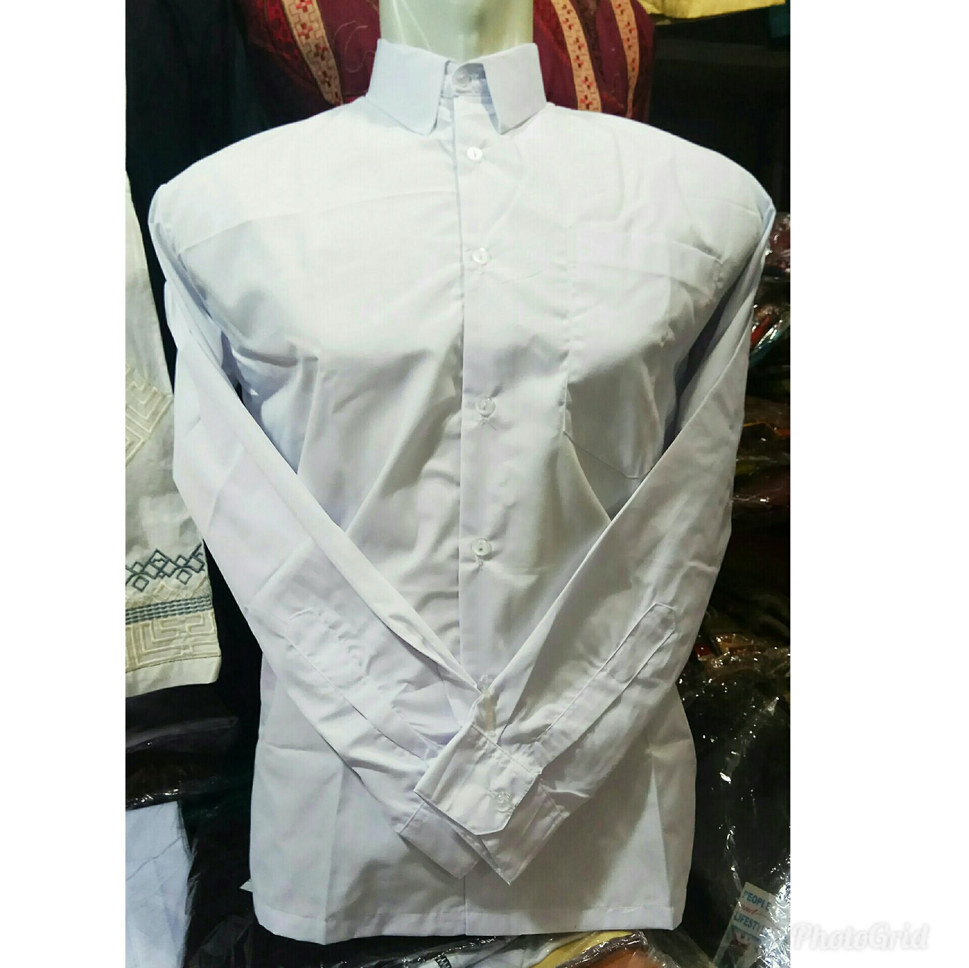 Kemeja putih seragam sekolah mulai sd sampai sma