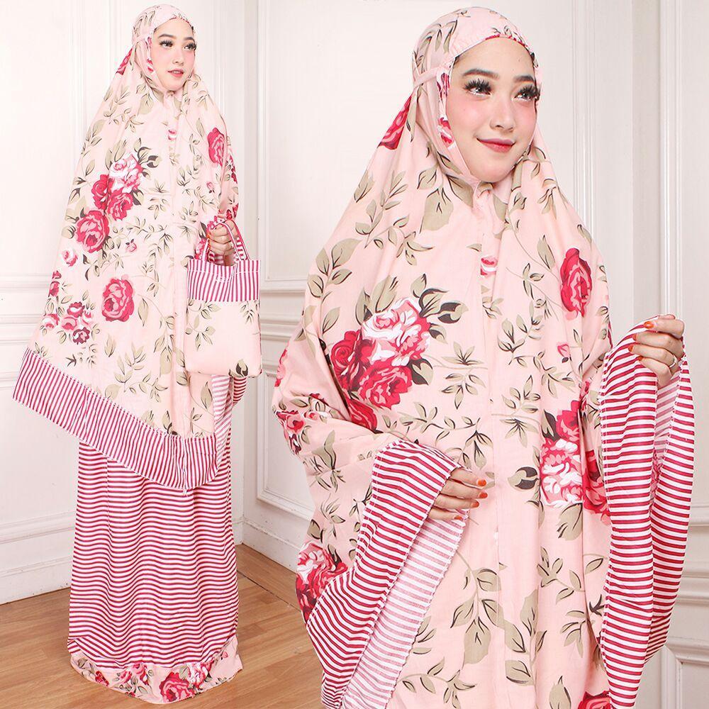 mukena dewasa  muslimah trendy katun jepang bunga