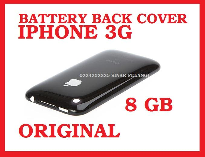 Casing Belakang Tutup Batre Back Door Back Cover Iphone 3g 8gb Black Oc 701014
