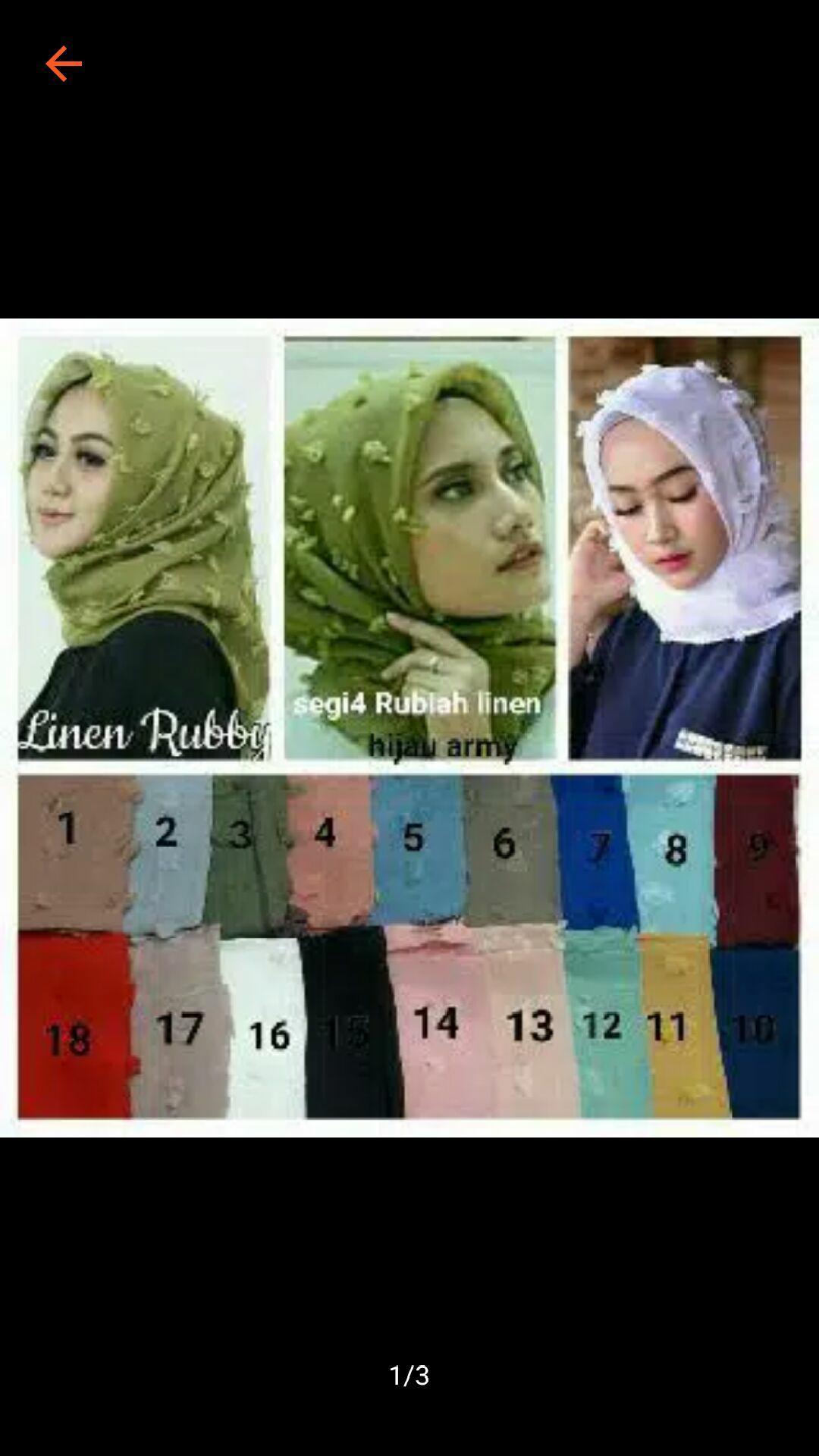 Mooie - hijab segiempat linen / jilbab bulu/ rubiah square /