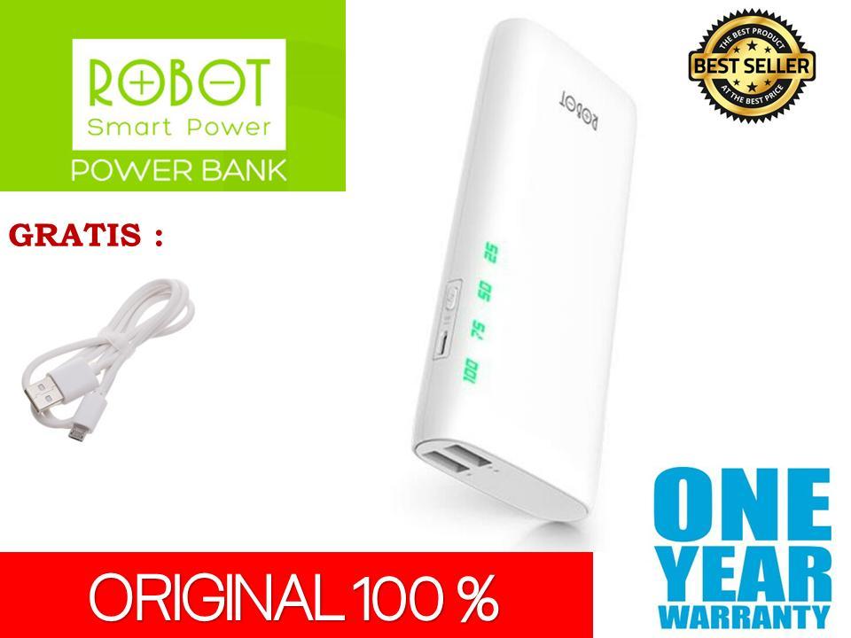 Powerbank Robot RT130 10000mAh pb power bank 10000 mAh 2 output usb ports original