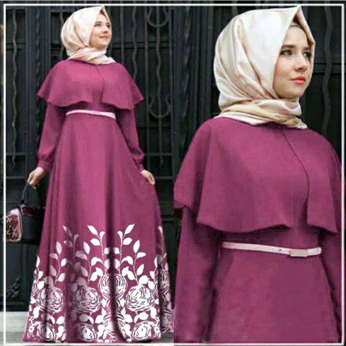 Alghani Women Clothes Hijab Andiani Rose Magenta Size Fit To L