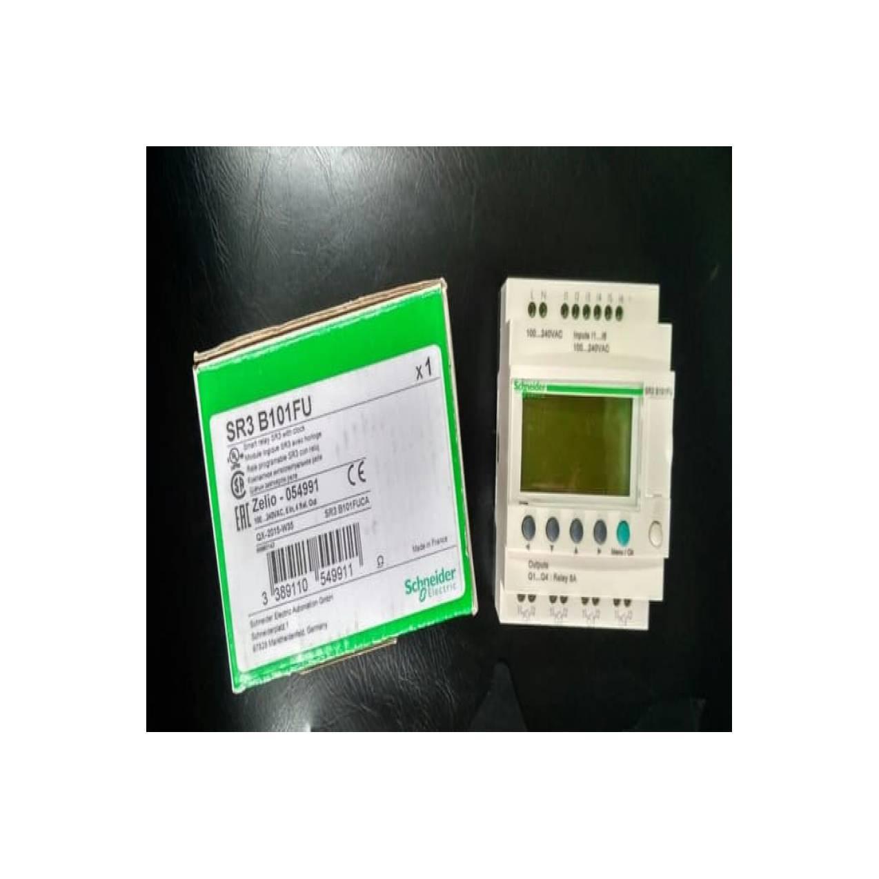 SCHNEIDER SR3B101FU PLC ZELIO Modular Smart Relay 10 I O 100 240 V AC