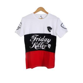 Pencarian Termurah Cikitashop - Kaos T-Shirt Distro / Kaos Pria / T-Shirt Pria Anime Premium Anime Firday Killer Putih sale - Hanya Rp33.330