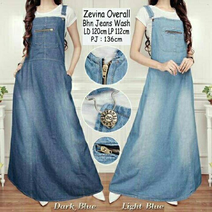 Miracle Overall Jumpsuit Dian Long Dress Jeans Wanita Jumbo