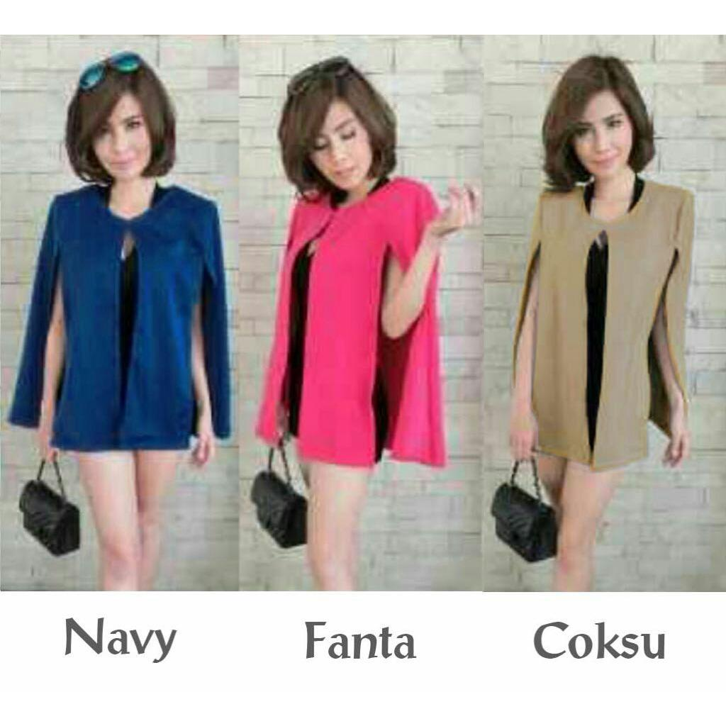 J&C Cardi Cape Yuriko / Cape Wanita / Kardigan Model Cape / Outer Wanita / Kardigan